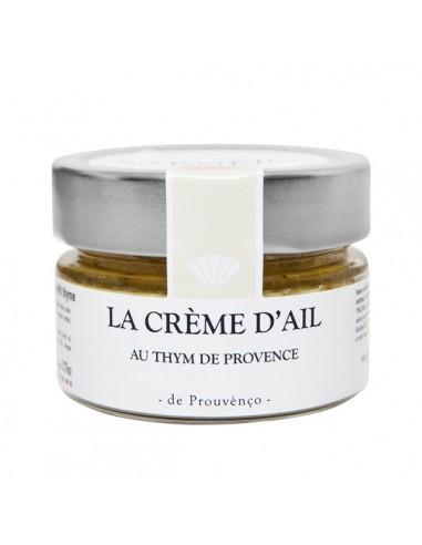 La crème d'ail au thym de Provence